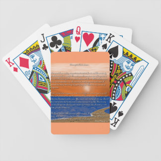 Footprints in the Sand Poem Bicycle Playing Cards