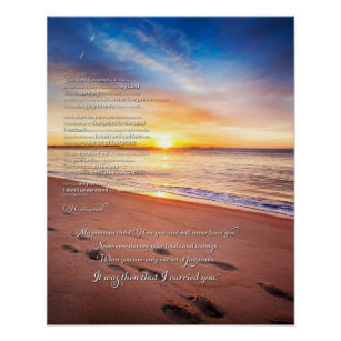 photo regarding Footprints in the Sand Poem Printable Version known as Footprints within just the Sand Poem Poster