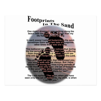 Footprints in the Sand... Postcard