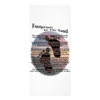 Footprints in the Sand Rack Card