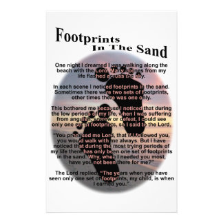 Footprints in the Sand Stationery Design