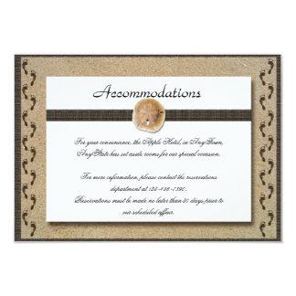 Footprints in the Sand Wedding Insert 3.5x5 Paper Invitation Card