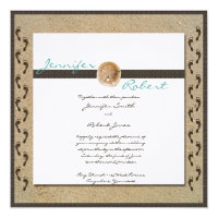 Footprints in the Sand Wedding Invitation