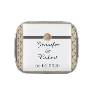 Footprints in the Sand Wedding Jelly Belly Tin