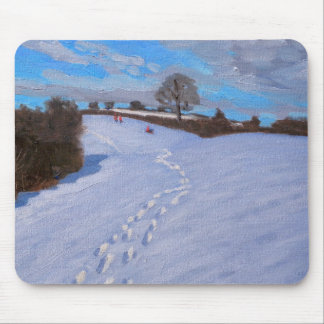 Footprints in the Snow 2009 Mouse Pad