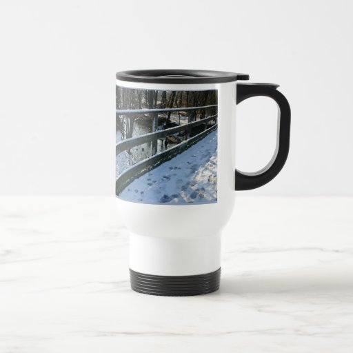 Footprints In The Snow Travel Mug