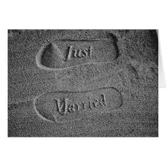 Footprints - Just Married! Greeting Card