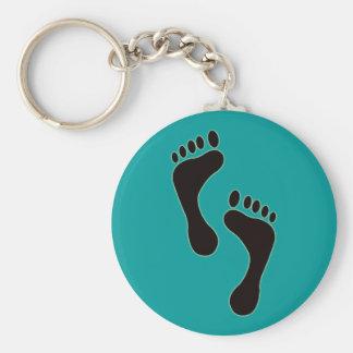 Footprints Keychain