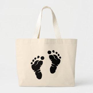 Footprints Large Tote Bag