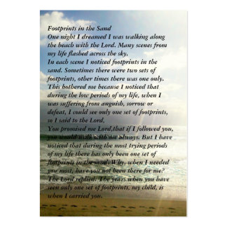 Footprints Memorial Prayer Card Large Business Cards (Pack Of 100)