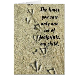 Footprints note card
