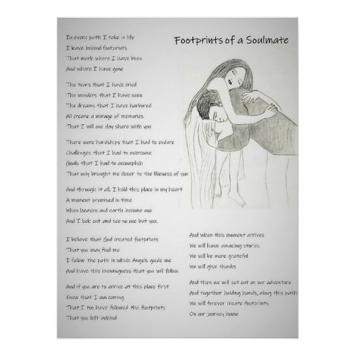 Footprints of a Soulmate Poster