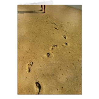 Footprints of Love Greeting Card