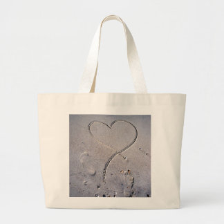 Footprints of the Heart Tote Bags