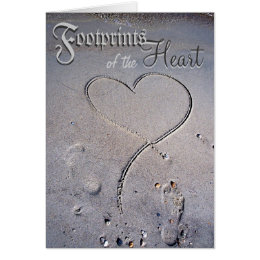 Footprints of the Heart Card