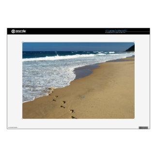 "Footprints On Beach, Mabibi, Thongaland 15"" Laptop Decals"