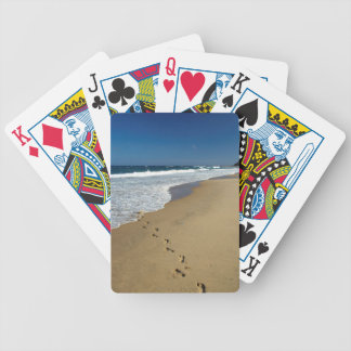 Footprints On Beach, Mabibi, Thongaland Bicycle Playing Cards