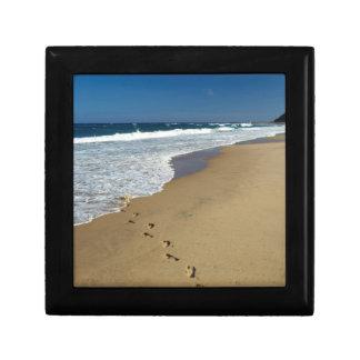 Footprints On Beach, Mabibi, Thongaland Jewelry Box