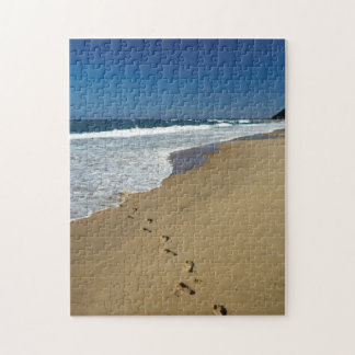 Footprints On Beach, Mabibi, Thongaland Jigsaw Puzzle