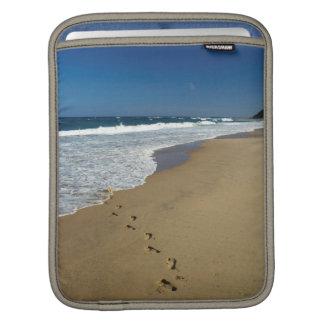 Footprints On Beach, Mabibi, Thongaland Sleeve For iPads