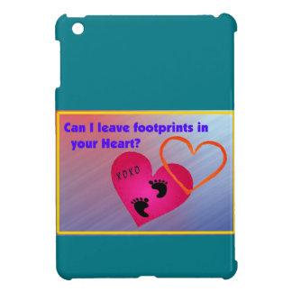 Footprints on Hearts iPad Mini Cases