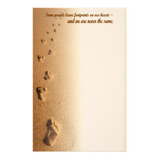 Footprints On Our Heart Customized Stationery