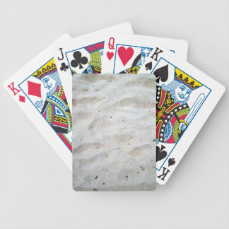 Footprints on Sand Texture Bicycle Poker Cards