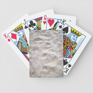 Footprints on sand texture poker cards