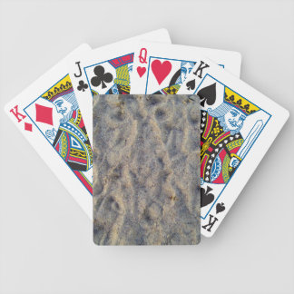 Footprints on sand texture bicycle poker deck