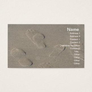 Footprints on the beach business card