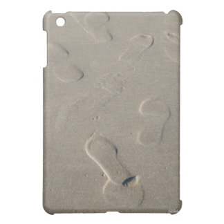 Footprints on the beach case for the iPad mini