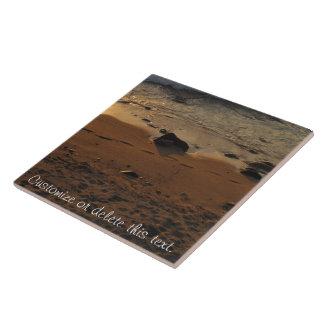 Footprints on the Beach; Customizable Tile