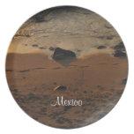Footprints on the Beach; Mexico Souvenir Dinner Plate