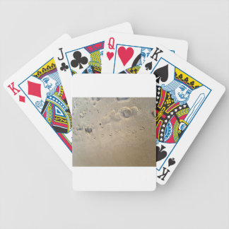 footprints on the beach bicycle poker cards