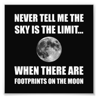 Footprints On The Moon Photo Print