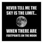 Footprints On The Moon Poster