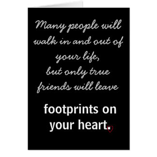 Footprints on your heart greeting card