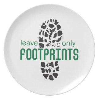 Footprints Dinner Plate