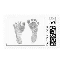 Footprints Postage Stamp
