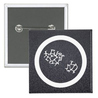 Footprints Scatters Icon 2 Inch Square Button