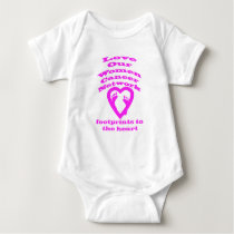 Footprints to the Heart by Save Our Women Network Baby Bodysuit