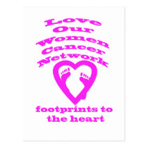Footprints to the Heart by Save Our Women Network Postcard