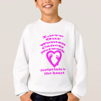 Footprints to the Heart Cancer Products Sweatshirt