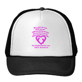 Footprints to the Heart Cancer Products Trucker Hat