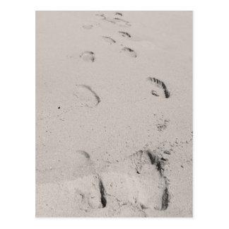 Footsteps for 2 postcard