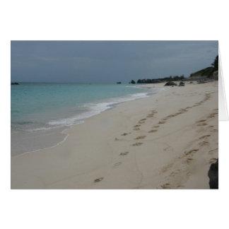 Footsteps in Bermuda Sand Card
