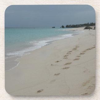 Footsteps in Bermuda Sand Drink Coaster