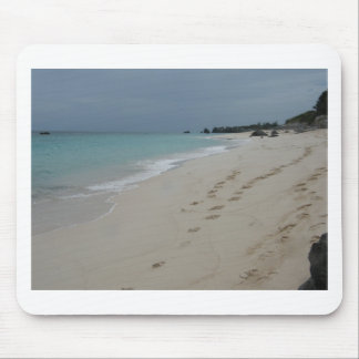 Footsteps in Bermuda Sand Mouse Pad