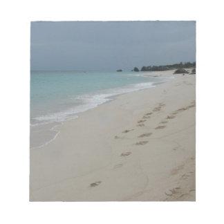 Footsteps in Bermuda Sand Notepad