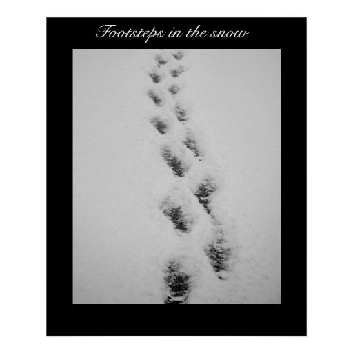 footsteps in snow poster